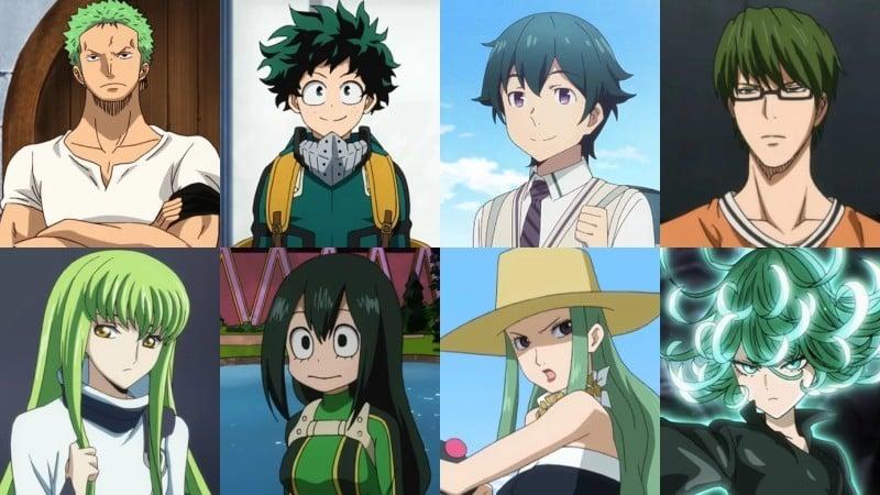 Significado das cores de cabelo nos animes - verde