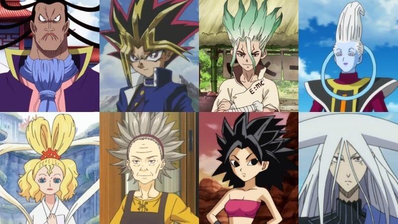 Kiểu tóc, kiểu tóc và hình dạng anime - nhọn