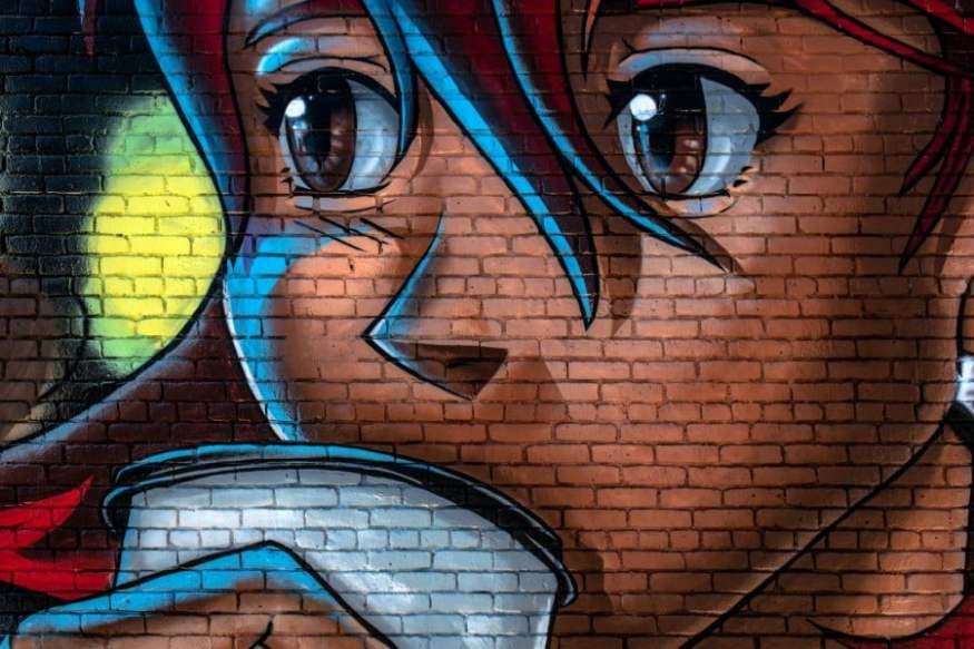 Um estudo da influência dos animes na percepção do mundo - desenho parede
