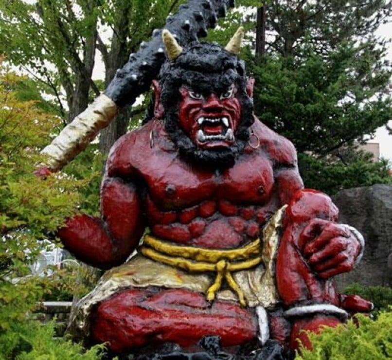 O oni na mitologia japonesa - estatua oni