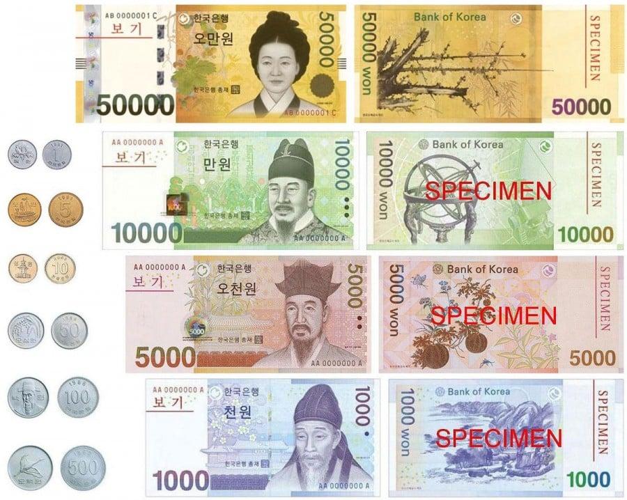 Won - a moeda da coreia do sul - won