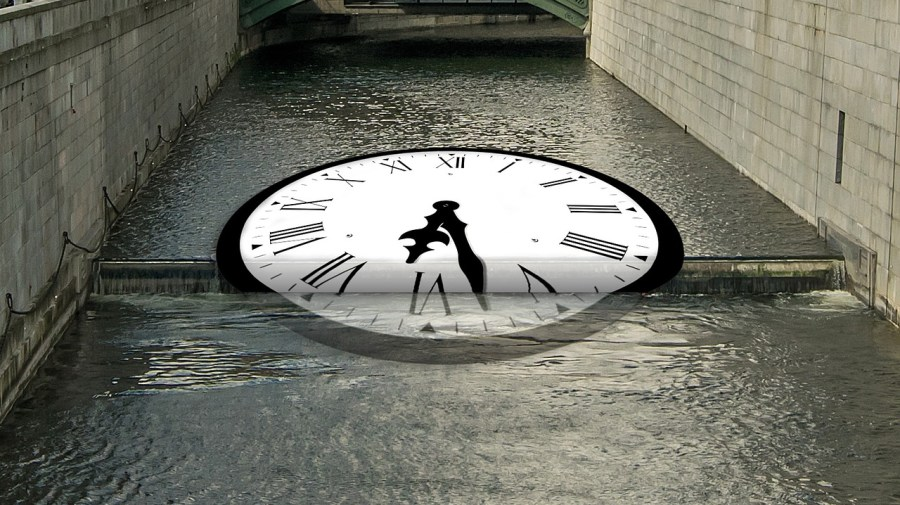 Time like flowing water goes and does not return