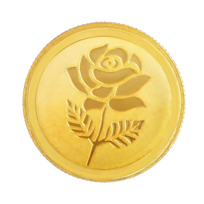 Malabar Gold & Diamonds 22k (916) 10 gm Yellow Gold Coin