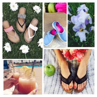 Sandal collage