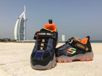 Skechers Kids at the Burj al Arab Hotel in Dubai, UAE