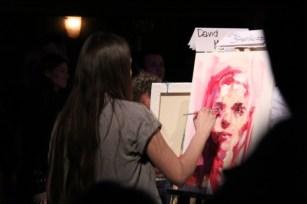 Elly Smallwood's painting taking shape