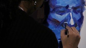 A close up of Madhura Joshi's final painting