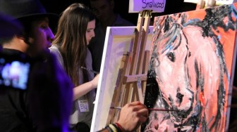 Carlos Delgado's horse painting for the final round