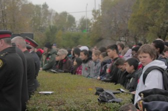 Students listening to the speeches