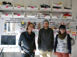 Vega Team from Toronto, Canada (from left to right Kate Hartman, Jackson McConnell, Hillary Predko)
