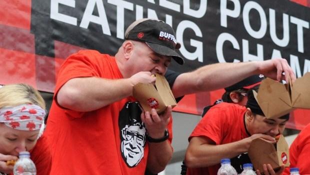 Poutine competitors train to eat big