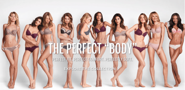 Lingerie giant 'Perfect Body' ads draw criticism