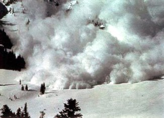 A picture of an avalanche in Afghanistan.