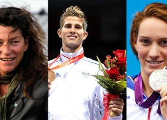 Three athletes who died from the crash. (From left to right) Florence Arthaud, Alexis Vastine, Camille Muffat.