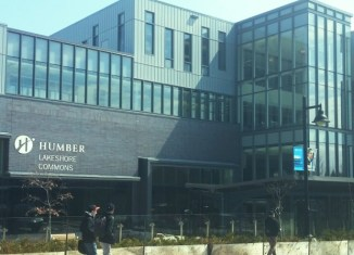 The outside of Humber College Lakeshore L building