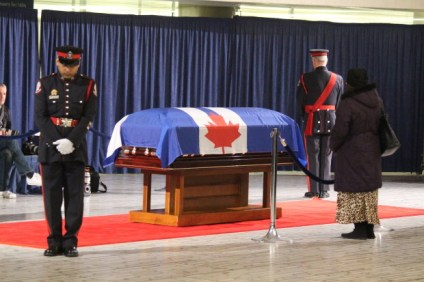 Mourner honours Rob Ford