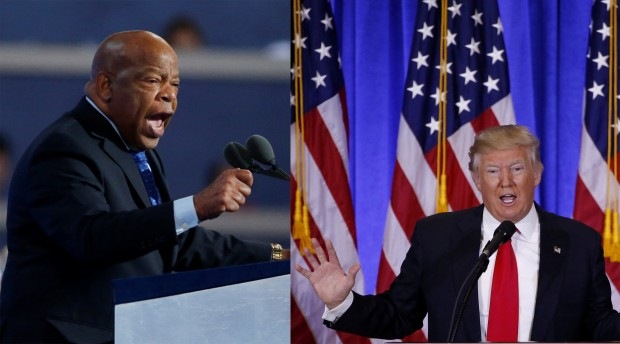 Donald Trump takes to Twitter after John Lewis interview