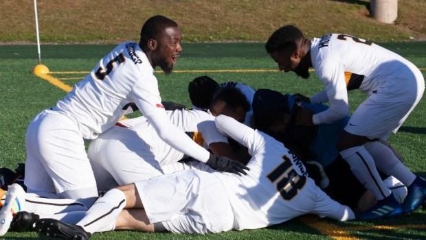 Hawks men's soccer wins fourth straight championship