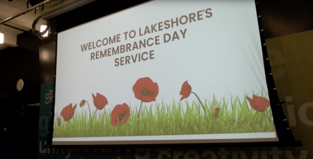 Remembrance Day services held at  Lakeshore campus
