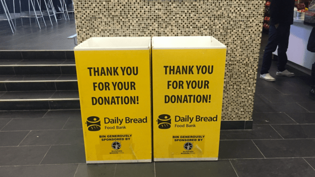 Food bank ramps up presence in college