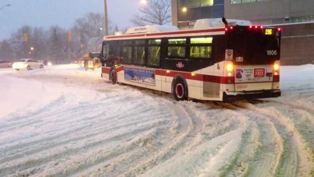 Toronto Transit Slowed By Storm