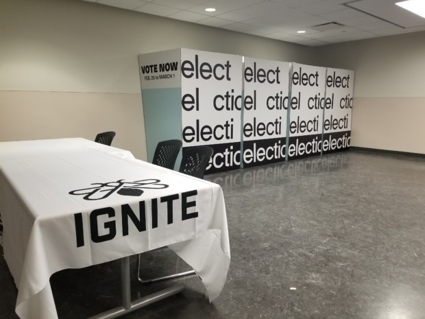 (Audio) Two business students talk responsibilities, connecting with students in race for Vice Presidency at Lakeshore Ignite