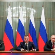 Russia's prime minister and government step down