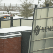 Snow slows down Humber
