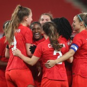 Canadian women's soccer team defeats England
