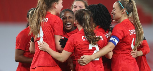 Canadian women's soccer team defeats England