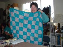 Terry and her Heart Design Afghan