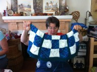 Terry - another heart blanket!