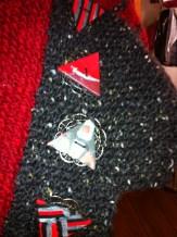 Button Detail on Debbie H's O'Doyle cape
