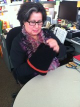Rosa learned to knit!