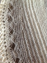 The shawl details