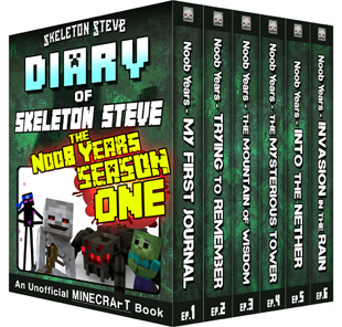 Minecraft Diary of Skeleton Steve the Noob Years - FULL Season One (1) - Unofficial Minecraft Books for Kids, Teens, & Nerds - Adventure Fan Fiction Diary Series