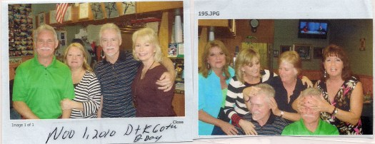 Photo of Denny & Kenny on their 60th to post along with a photo of the sister's messing up their hair that night (they are now 63) .  Buddy & Mike were not there unfortunately.