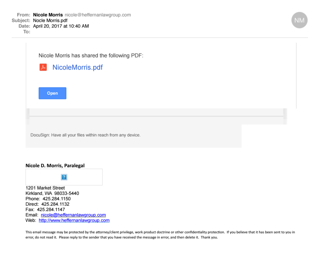Fake DocuSign Email Scam
