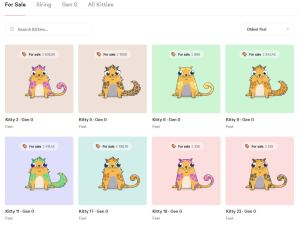 Cryptokitties marketplace