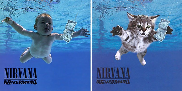 Nirvana Nevermind cats on album covers