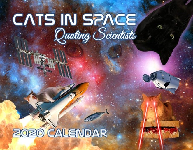 cats in space quoting scientists calendar