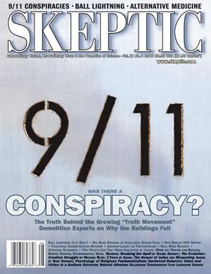 Skeptic magazine's 9-11 cover