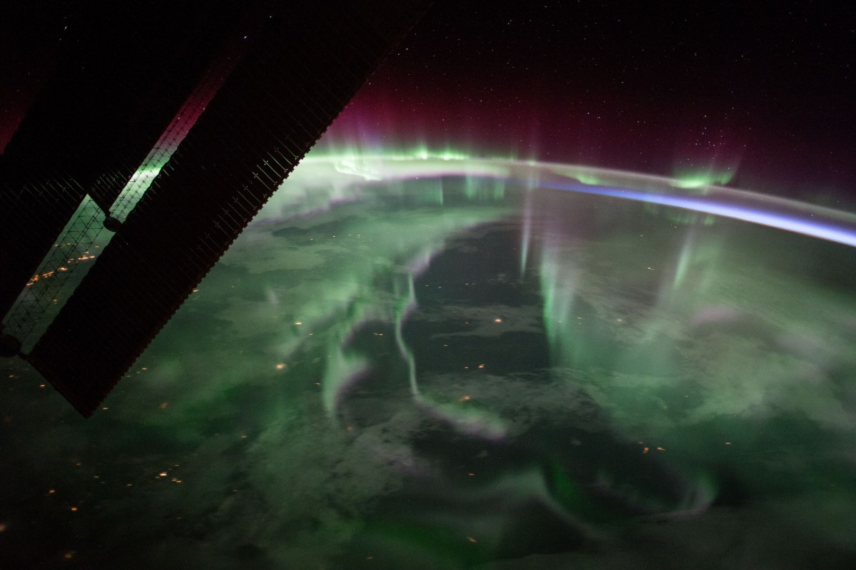 Aurora as seen from Space Station