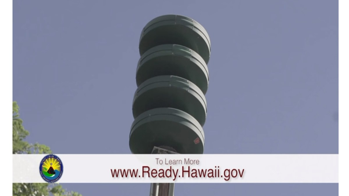 Attack Warning Siren Reinstated in Hawaii December 1, 2017; Get Inside. Stay Inside.