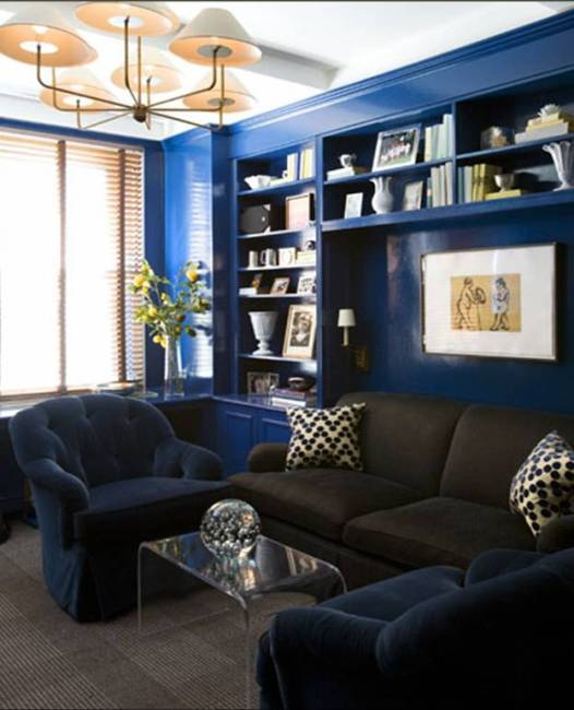 Amanda Carol Interiors White Base Colors Can: Blue Lacquered Walls: All The Cool Kids Are Doing It