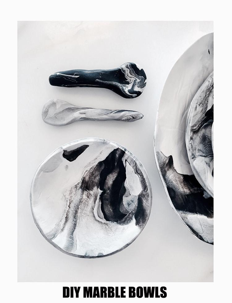 DIY | Faux Marble Mini Bowls.