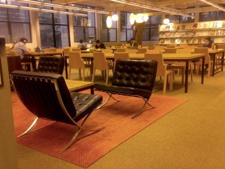 Mies Van De Rohe's Barcelona Chairs @ the College of Environmental Design in Berkeley. Oct. 2009