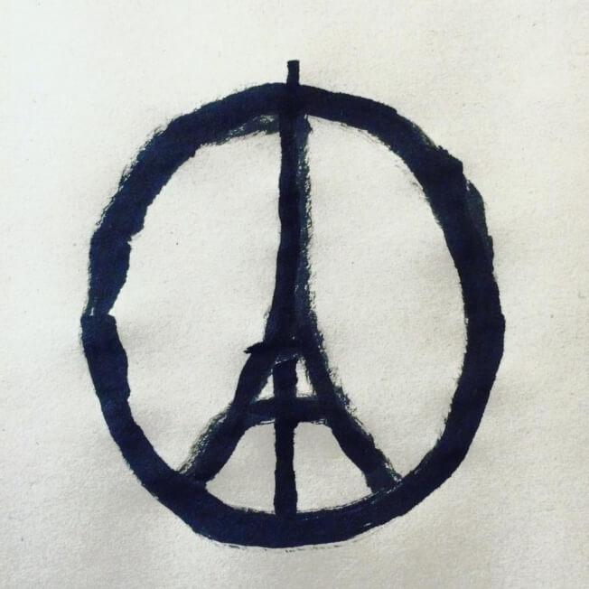 Peace for Paris logo by Jean Jullien
