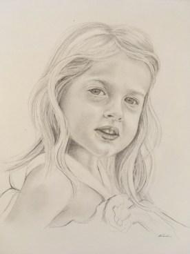 """Flower Girl"" - Graphite Pencil - 11 x 14"