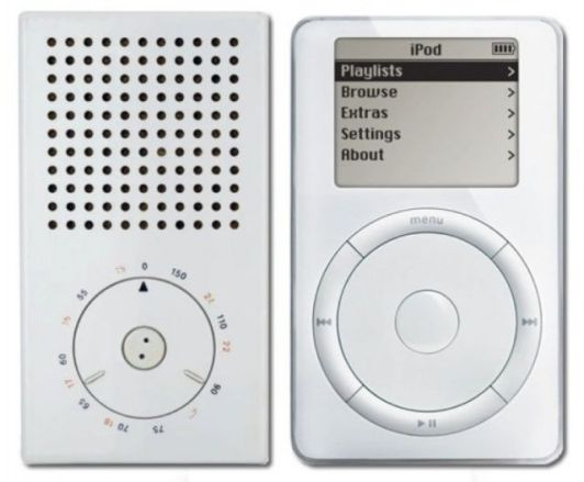 The first iPod and the Braun radio that inspired it.